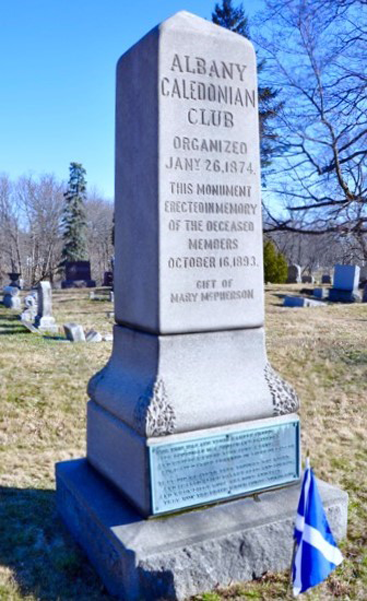 Albany Caledonian Club Monument<br>Section 112, Albany Rural Cemetery
